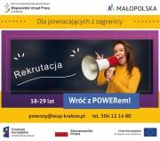 Pomoc psychologiczna Wojewódzkiego Urzędu Pracy w Krakowie dla młodych powracających z zagranicy
